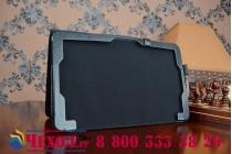 Фирменный чехол-футляр для ASUS T300CHI-FH011H с отделением под клавиатуру /док станцию черный кожаный