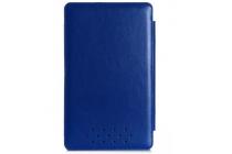 Фирменный чехол-футляр для Asus Transformer Book T3 Chi / T300 Chi с отделением под клавиатуру /док станцию синий кожаный