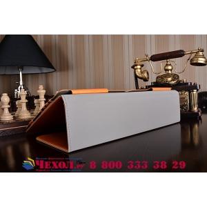 Фирменный оригинальный чехол для Asus Transformer Book T300LA коричневый  кожаный