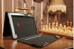 Фирменный чехол для Asus Transformer Book Trio TX201LA с отделением под клавиатуру черный кожаный