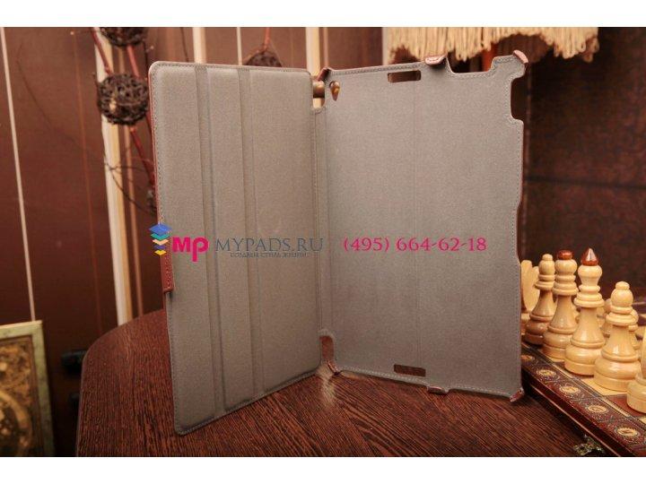 Фирменный чехол для Asus Transformer Book Trio TX201LA коричневый кожаный