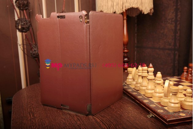 """Фирменный чехол для Asus Transformer Book Trio TX201LA коричневый кожаный """"Deluxe"""""""