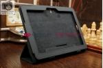 Фирменный чехол обложка для Asus Transformer Pad TF103CG черный кожаный