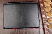 Фирменный чехол для Asus Transformer Pad TF103C/TF103CG K018 Dock Keyboard с отделением под клавиатуру черный кожаный