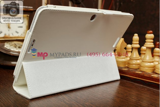 Фирменный чехол-книжка для ASUS Transformer Pad TF103CG-1B055A model K010 белый кожаный
