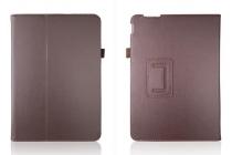 Фирменный чехол обложка для Asus Transformer Pad TF303CL model K014 коричневый кожаный