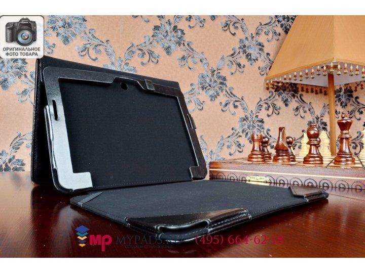 Фирменный чехол для ASUS Transformer Pad TF303CL LTE K014 dock Keyboard с отделением под клавиатуру черный кож..