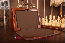 Фирменный оригинальный чехол для ASUS Transformer Pad TF303CL LTE K014 dock Keyboard с док-станцией коричневый кожаный