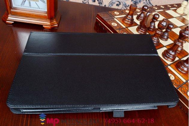 Фирменный чехол обложка для Asus Transformer Book T200TA черный кожаный