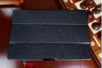 """Фирменный умный чехол самый тонкий в мире для Asus Transformer Book T200TA """"Il Sottile"""" черный пластиковый"""
