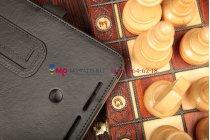 """Фирменный оригинальный чехол для Asus VivoTab Note 8 M80TA с визитницей и держателем для руки черный натуральная кожа """"Prestige"""" Италия"""