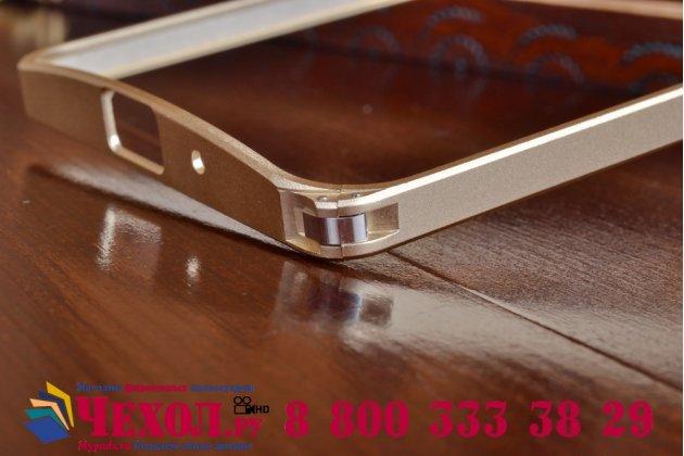 """Фирменный оригинальный ультра-тонкий чехол-бампер для Asus Zenfone 2 5.0"""" ZE500CL золотой металлический"""