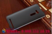 """Фирменная задняя панель-крышка-накладка из тончайшего и прочного пластика для Asus Zenfone 2 5.0"""" ZE500CL черная"""