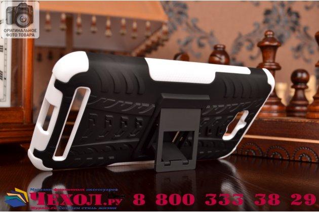 Противоударный усиленный ударопрочный фирменный чехол-бампер-пенал для Asus Zenfone Max ZC550KL 5.5  белый