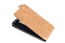 Фирменный оригинальный вертикальный откидной чехол-флип для ASUS Zenfone 2 ZE550ML / ZE551ML 5.5 коричневый кожаный