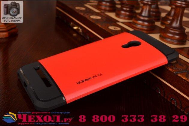 Противоударный усиленный ударопрочный фирменный чехол-бампер-пенал для Asus Zenfone 5 Lite A502CG красный