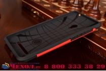 Противоударный усиленный ударопрочный фирменный чехол-бампер-пенал для ASUS Zenfone 5 A501CG/A500KL  красный