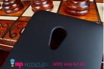 Фирменная задняя панель-крышка-накладка из тончайшего и прочного пластика для Asus Zenfone 5 Lite A502CG черная