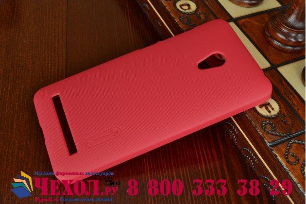 Фирменная задняя панель-крышка-накладка из тончайшего и прочного пластика для Asus Zenfone 5 A502CG красная