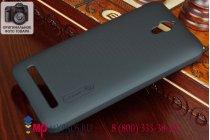 Фирменная задняя панель-крышка-накладка из тончайшего и прочного пластика для Asus Zenfone C ZC451CG черная