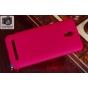 Фирменная задняя панель-крышка-накладка из тончайшего и прочного пластика для Asus Zenfone C ZC451CG красная..