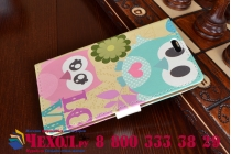 """Фирменный уникальный необычный чехол-книжка для Asus Zenfone C ZC451CG """"тематика Сова"""""""