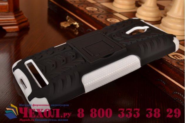 Противоударный усиленный ударопрочный фирменный чехол-бампер-пенал для Asus ZenFone Go ZC500TG белый