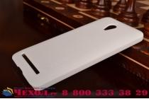 Фирменная задняя панель-крышка-накладка из тончайшего и прочного пластика для Asus Zenfone GO ZC500TG белая