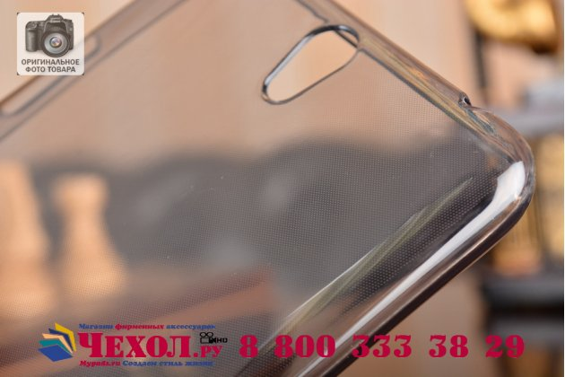 """Фирменная ультра-тонкая полимерная из мягкого качественного силикона задняя панель-чехол-накладка для ASUS ZenFone Go ZB690KG 6.9"""" серая"""