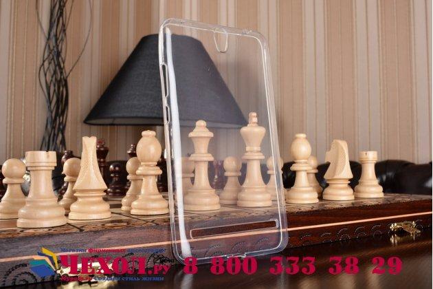 """Фирменная ультра-тонкая полимерная из мягкого качественного силикона задняя панель-чехол-накладка для ASUS ZenFone Go ZB690KG 6.9""""белая"""