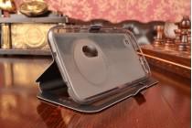 Фирменный чехол-книжка для ASUS ZenFone Zoom ZX551ML / ZX550ML черный с окошком для входящих вызовов и свайпом водоотталкивающий