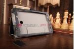 """Фирменный чехол обложка для Asus Fonepad 7 FE170CG Model K012 с визитницей и держателем для руки черный натуральная кожа """"Prestige"""" Италия"""