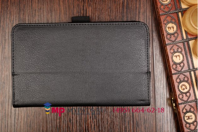 Фирменный чехол обложка для Asus Memo Pad 7 ME170C model K017 черный кожаный
