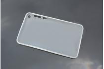 """Фирменная ультра-тонкая полимерная из мягкого качественного силикона задняя панель-чехол-накладка для Asus Fonepad 8 FE380CG/FE380CXG (K016)"""" белая"""