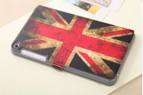 """Фирменный чехол-книжка с рисунком на тему """"Ретро Британский флаг"""" на Asus Fonepad 8 FE380CG/FE380CXG (K016) с окошком для звонков"""