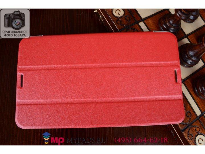 Ультратонкий фирменный оригинальный чехол обложка для Asus Fonepad 8 FE380CG model K016 красный пластиковый..