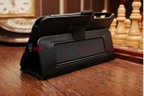 Фирменный чехол обложка для Asus Memo Pad 7 ME176CX model K013 черный кожаный с держателем для руки