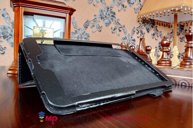 Фирменный чехол обложка с подставкой для Asus Memo Pad 8 FHD ME581CL model K015 черный кожаный