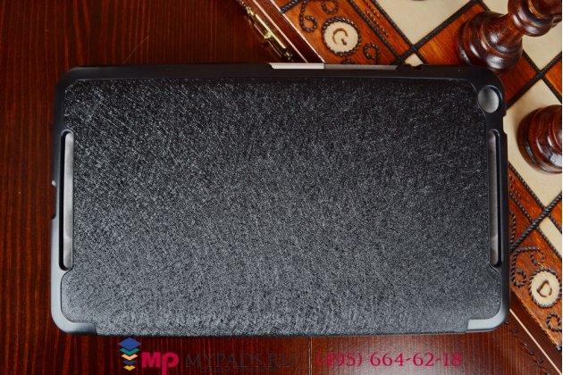 """Фирменный умный чехол самый тонкий в мире для Asus Memo Pad 8 FHD ME581CL K015""""Il Sottile"""" черный пластиковый"""