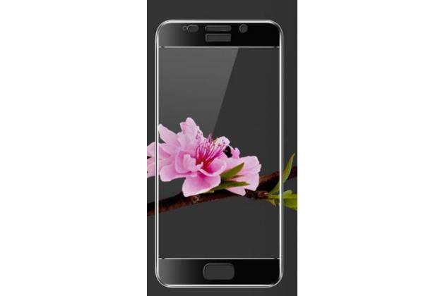 Фирменное 3D защитное изогнутое стекло с закругленными изогнутыми краями которое полностью закрывает экран / дисплей по краям с олеофобным покрытием для Asus Zenfone 3S Max ZC521TL 5.2