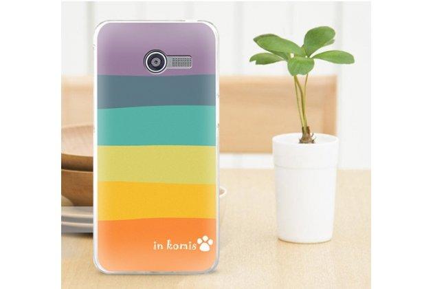 """Фирменная необычная из легчайшего и тончайшего пластика задняя панель-чехол-накладка для Asus Zenfone 4 4.0"""" A400CG """"тематика Все цвета Радуги"""""""
