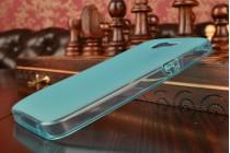 Фирменная ультра-тонкая полимерная из мягкого качественного силикона задняя панель-чехол-накладка для Asus Zenfone 4 4.0 A400CG голубая