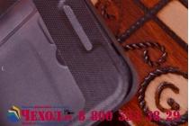 Фирменный оригинальный чехол-книжка с окошком для входящих для ASUS Zenfone 4 A400CG черный пластиковый