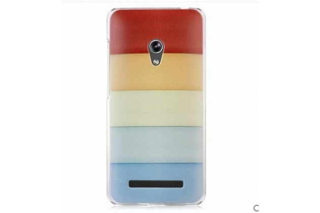 """Фирменная необычная из легчайшего и тончайшего пластика задняя панель-чехол-накладка для ASUS Zenfone 4 4.5 A450CG """"тематика Все цвета Радуги"""""""