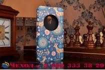 Фирменный чехол-книжка с безумно красивым расписным рисунком Оленя в цветах на ASUS Zenfone 5 A501CG/A500KL с окошком для звонков