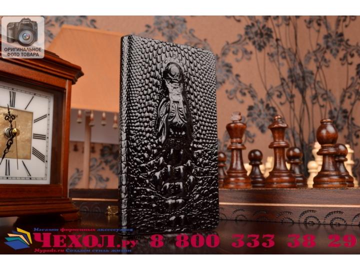 Фирменный роскошный эксклюзивный чехол с объёмным 3D изображением кожи крокодила для ASUS Zenfone 5 A500KL/A50..