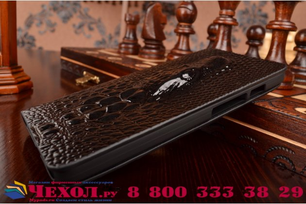 Фирменный роскошный эксклюзивный чехол с объёмным 3D изображением кожи крокодила для ASUS Zenfone 5 A500KL/A501CG. Только в нашем магазине. Количество ограничено