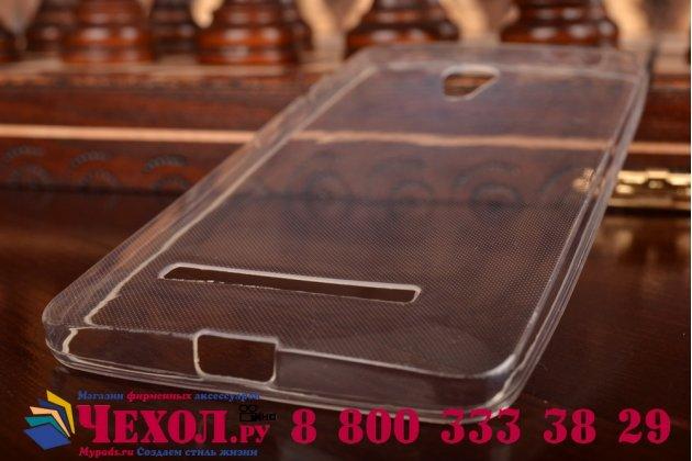 Фирменная ультра-тонкая полимерная из мягкого качественного силикона задняя панель-чехол-накладка для ASUS Zenfone 5 A500KL/A501CG белая