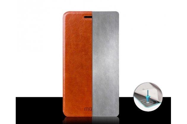 Фирменный чехол-книжка из качественной водоотталкивающей импортной кожи на жёсткой металлической основе для ASUS Zenfone 5 A501CG/A500KL черный
