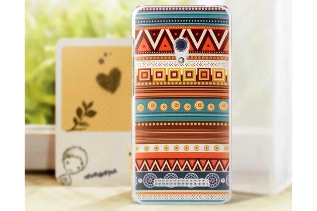 Фирменная роскошная задняя панель-чехол-накладка с безумно красивым расписным эклектичным узором на ASUS Zenfone 5 A501CG/A500KL